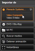 Avid Studio image001 Importar de fuentes analógicas