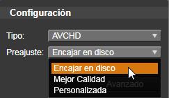 Avid Studio image002 Exportación a soportes de disco