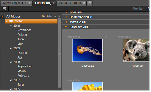 Avid Studio image003 Ominaisuuspuu