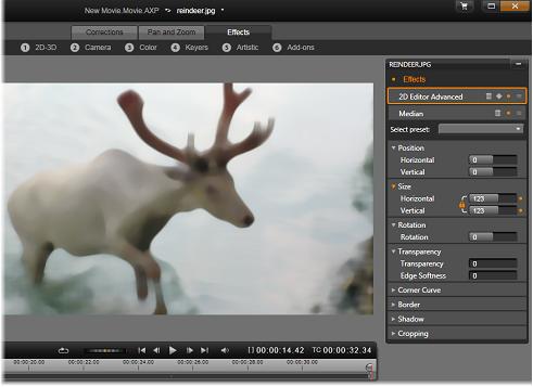 Avid Studio image001 Median muokkaus: Tehosteet