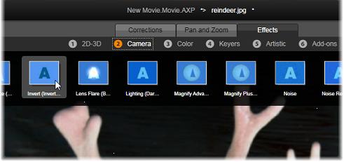 Avid Studio image001 Tehosteet median muokkaajissa