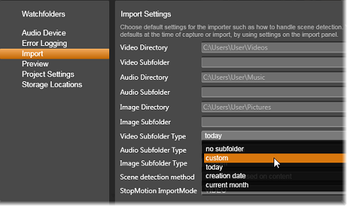 Avid Studio image002 Asetukset