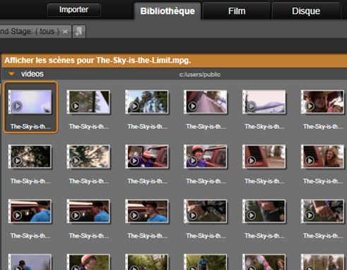 Avid Studio image002 Détection de scène vidéo