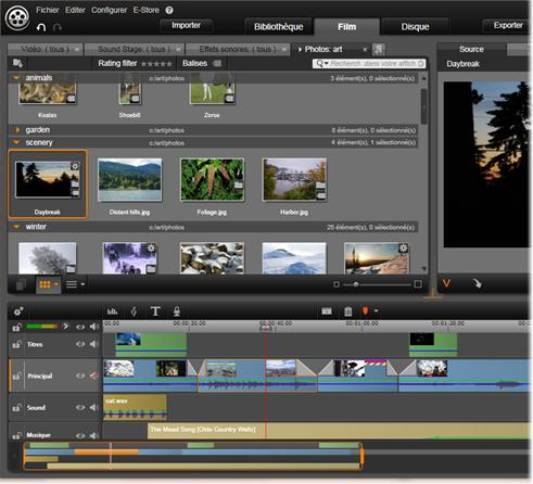 Avid Studio image001 L'éditeur de films