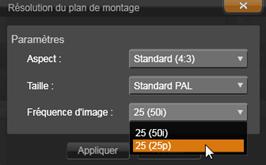 Avid Studio image002 La barre d'outils du plan de montage
