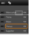Avid Studio image001 Utiliser la liste des calques