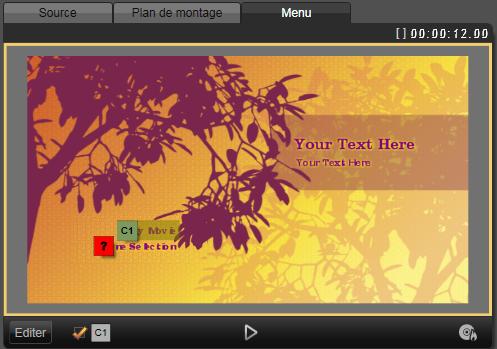 Avid Studio image001 Aperçu des menus de disques