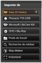 Avid Studio image001 Utiliser la fenêtre d'import