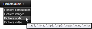 Avid Studio image009 Sélectionner des fichiers à importer
