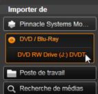 Avid Studio image001 Importer à partir d'un DVD ou d'un disque Blu Ray