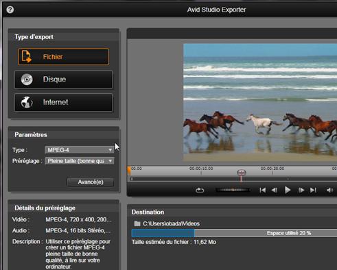 Avid Studio image002 LExporteur
