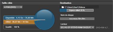 Avid Studio image001 Export vers disque média