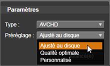 Avid Studio image002 Export vers disque média