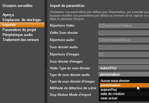 Avid Studio image002 Paramètres