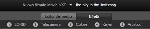 Avid Studio image001 Editing di contenuti multimediali: Correzioni