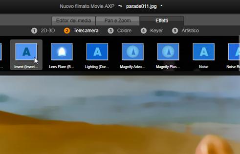 Avid Studio image001 Effetti negli editor multimediali