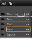 Avid Studio image001 Utilizzo dellelenco dei livelli