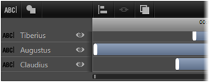 Avid Studio image007 Utilizzo dellelenco dei livelli