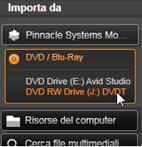 Avid Studio image001 Pannello Importa da