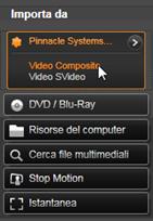 Avid Studio image001 Importazione da sorgenti analogiche