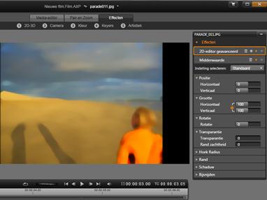 Avid Studio image001 Media bewerken: Effecten