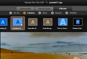 Avid Studio image001 Effecten in de media editors