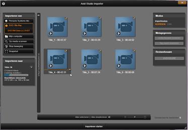 Avid Studio image002 De Importer gebruiken