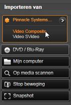 Avid Studio image002 Het paneel Importeren van