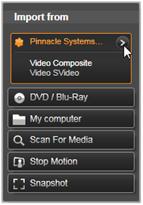 Avid Studio image002 Importer Fra panelet