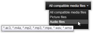 Avid Studio image009 Velge media for importering