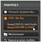 Avid Studio image001 Panel Importuj z