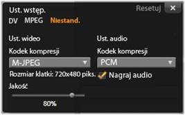 Avid Studio image001 Okno Opcje kompresji