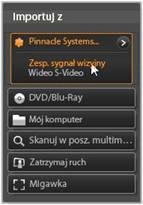 Avid Studio image001 Importowanie ze źródeł analogowych