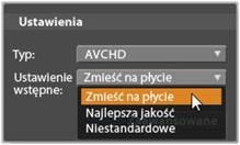 Avid Studio image002 Eksportowanie na płytę