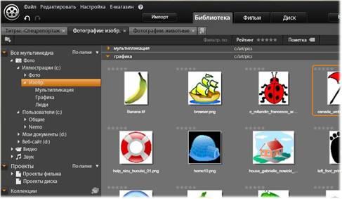 Avid Studio image001 Вкладка «Библиотека»