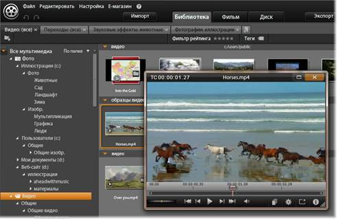 Avid Studio image002 Вкладка «Библиотека»