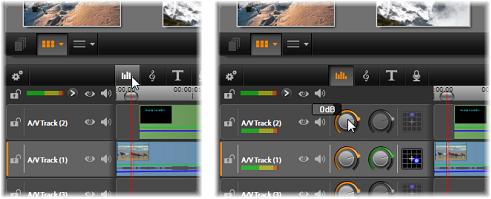 Avid Studio image002 Tidslinjens ljudfunktioner