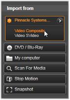 Avid Studio image001 Import från analoga källor