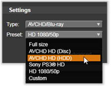 Avid Studio image005 Överföring till fil