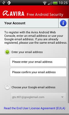Avira android  register 1 Installation and Uninstallation