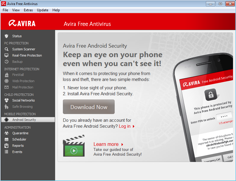 Avira android download Creating an Android account