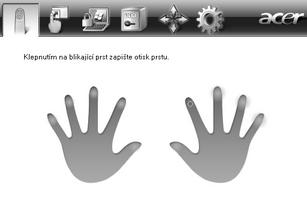 Acer Bio Protection 012.zoom60 Zápis nového otisku prstu