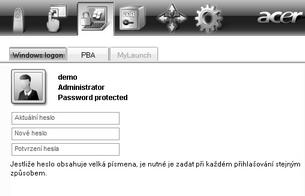 Acer Bio Protection 025.zoom60 Změna hesla systému Windows