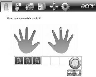 Acer Bio Protection 014.zoom60 Enrolling a New Fingerprint