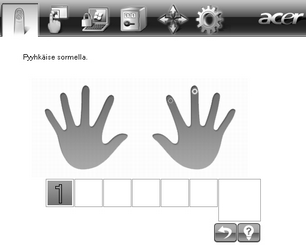 Acer Bio Protection 013.zoom60 Uuden sormenjäljen kirjaaminen