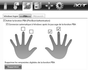 Acer Bio Protection 026.zoom60 (Optionnel) Pre Boot Authentication (PBA)