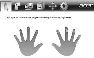 Acer Bio Protection 016 r.zoom60 Een geregistreerde vingerafdruk verwijderen