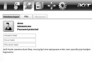 Acer Bio Protection 025.zoom60 Zmiana hasła Windows