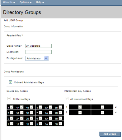 HP BladeSystem 112155 Creating directory groups