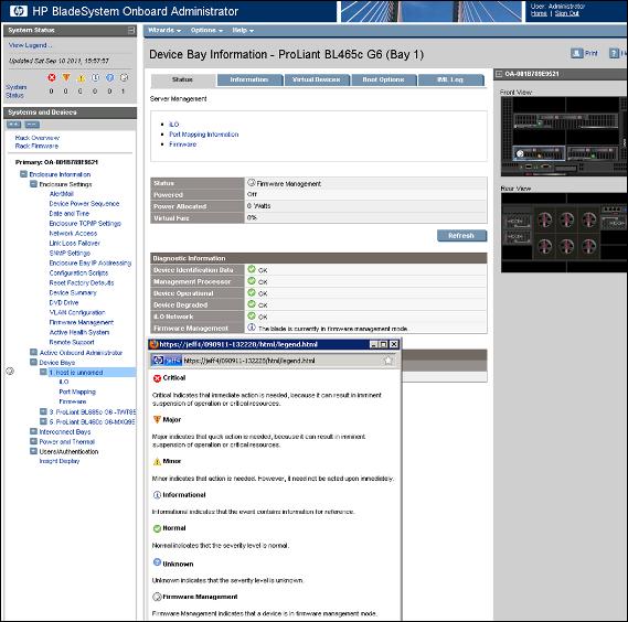 HP BladeSystem 141394 Status updates